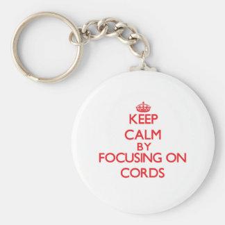 Gardez le calme en se concentrant sur des cordes porte-clef