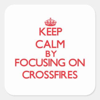 Gardez le calme en se concentrant sur des courants autocollant carré