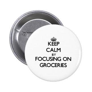 Gardez le calme en se concentrant sur des épicerie