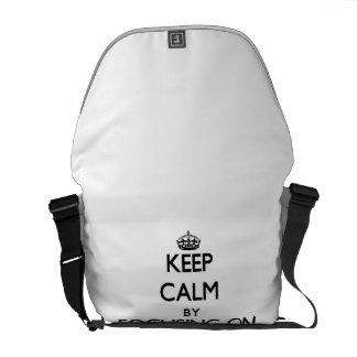 Gardez le calme en se concentrant sur des études sacoche