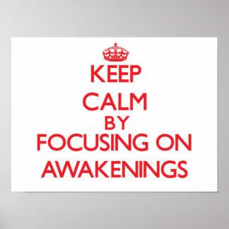 Gardez le calme en se concentrant sur des éveils poster