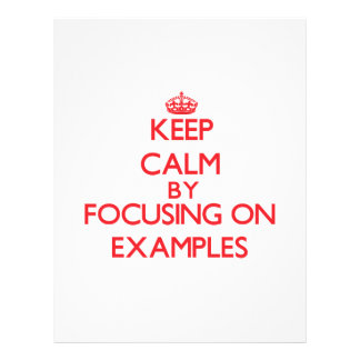 Gardez le calme en se concentrant sur des EXEMPLES Prospectus Personnalisés