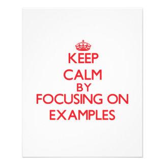 Gardez le calme en se concentrant sur des EXEMPLES Prospectus Customisé