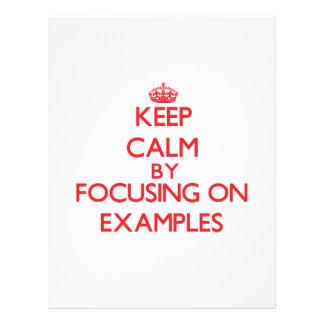 Gardez le calme en se concentrant sur des EXEMPLES Prospectus 21,6 Cm X 24,94 Cm