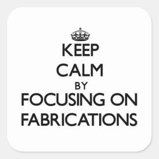 Gardez le calme en se concentrant sur des fabricat
