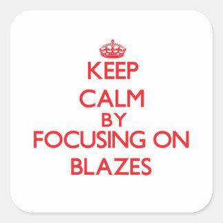 Gardez le calme en se concentrant sur des flammes autocollants