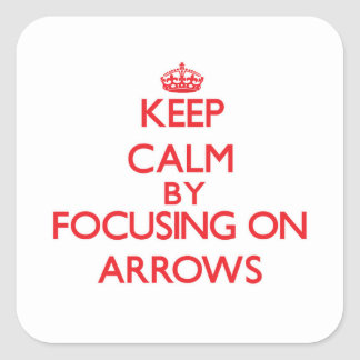 Gardez le calme en se concentrant sur des flèches autocollant