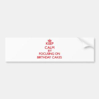 Gardez le calme en se concentrant sur des gâteaux autocollants pour voiture
