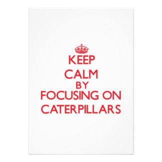 Gardez le calme en se concentrant sur des faire-parts