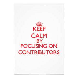 Gardez le calme en se concentrant sur des faire-part personnalisé