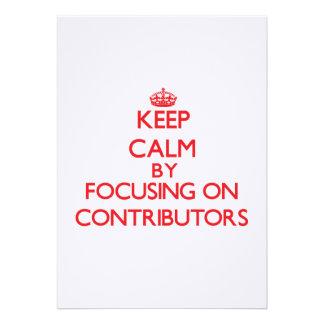 Gardez le calme en se concentrant sur des invitations personnalisées