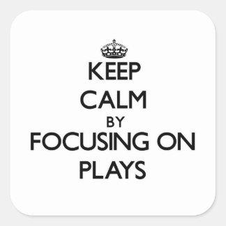 Gardez le calme en se concentrant sur des jeux sticker carré