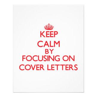 Gardez le calme en se concentrant sur des lettres prospectus en couleur