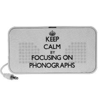 Gardez le calme en se concentrant sur des phonogra