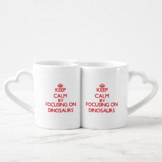 Gardez le calme en se concentrant sur des set tasses duo