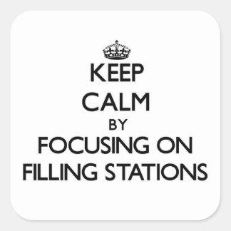 Gardez le calme en se concentrant sur des postes sticker carré