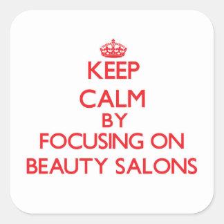 Gardez le calme en se concentrant sur des salons stickers carrés