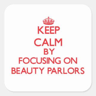 Gardez le calme en se concentrant sur des salons sticker carré