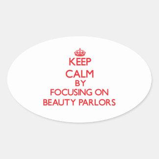 Gardez le calme en se concentrant sur des salons stickers ovales