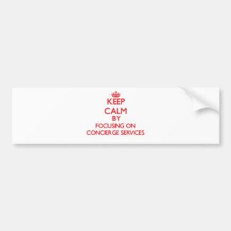 Gardez le calme en se concentrant sur des services autocollant pour voiture