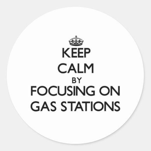 Gardez le calme en se concentrant sur des stations adhésif rond