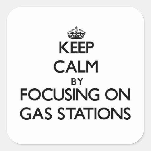 Gardez le calme en se concentrant sur des stations autocollants carrés