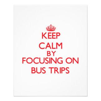 Gardez le calme en se concentrant sur des voyages prospectus avec motif
