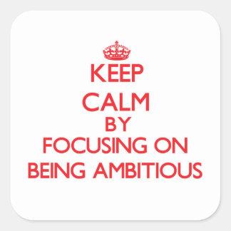 Gardez le calme en se concentrant sur être