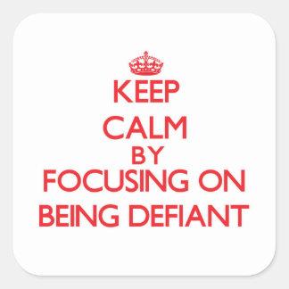 Gardez le calme en se concentrant sur être autocollants