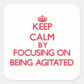 Gardez le calme en se concentrant sur être autocollant