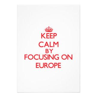 Gardez le calme en se concentrant sur l EUROPE Bristols Personnalisés