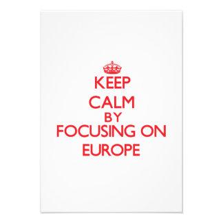 Gardez le calme en se concentrant sur l EUROPE Faire-parts