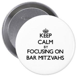 Gardez le calme en se concentrant sur la barre Mit Badges Avec Agrafe