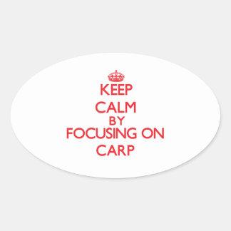 Gardez le calme en se concentrant sur la carpe autocollants