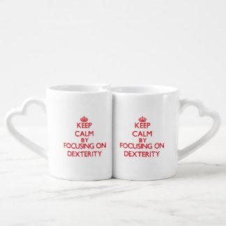 Gardez le calme en se concentrant sur la dextérité set mugs duo