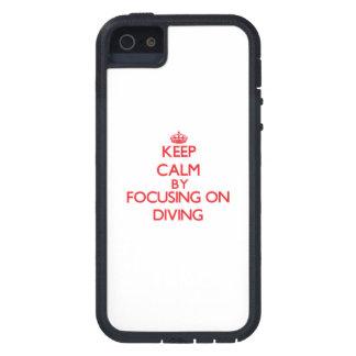 Gardez le calme en se concentrant sur la plongée iPhone 5 case
