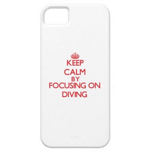 Gardez le calme en se concentrant sur la plongée coques iPhone 5 Case-Mate