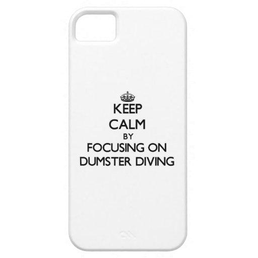 Gardez le calme en se concentrant sur la plongée d iPhone 5 case