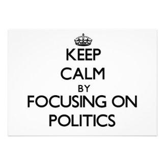 Gardez le calme en se concentrant sur la politique cartons d'invitation