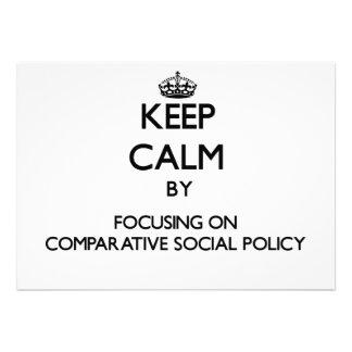 Gardez le calme en se concentrant sur la politique invitation personnalisée