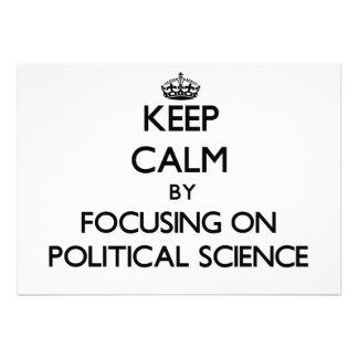 Gardez le calme en se concentrant sur la science bristols personnalisés
