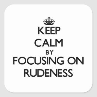 Gardez le calme en se concentrant sur la violence