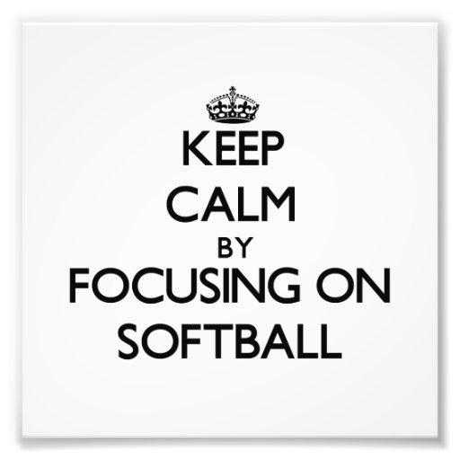 Gardez le calme en se concentrant sur le base-ball tirages photo