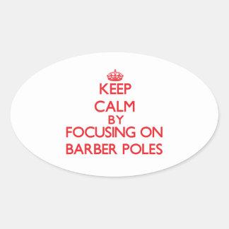 Gardez le calme en se concentrant sur le coiffeur autocollant