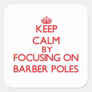 Gardez le calme en se concentrant sur le coiffeur adhésifs