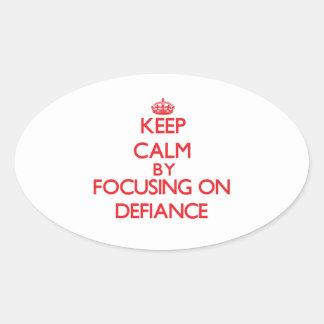 Gardez le calme en se concentrant sur le défi stickers ovales