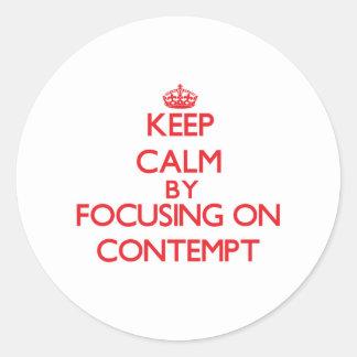Gardez le calme en se concentrant sur le mépris autocollants