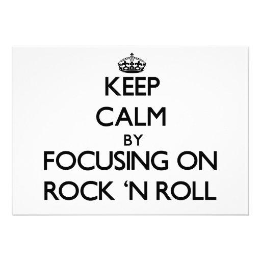Gardez le calme en se concentrant sur le rock cartons d'invitation personnalisés