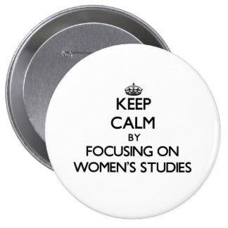 Gardez le calme en se concentrant sur les études badge