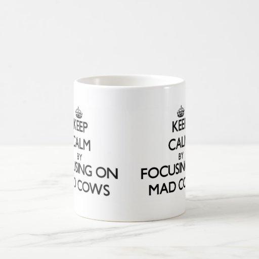 Gardez le calme en se concentrant sur les vaches f mugs à café